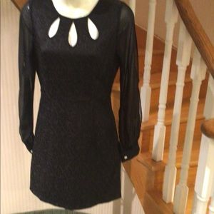 NWOTBlack dress with long sleeves with side slits